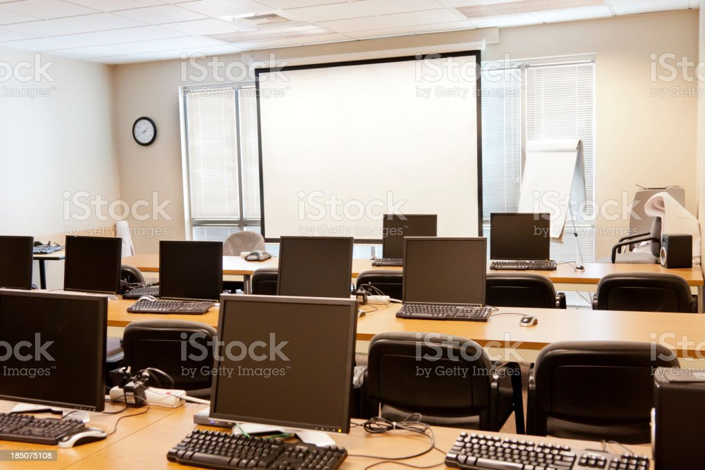 Computer Training Classroom royalty-free stock photo