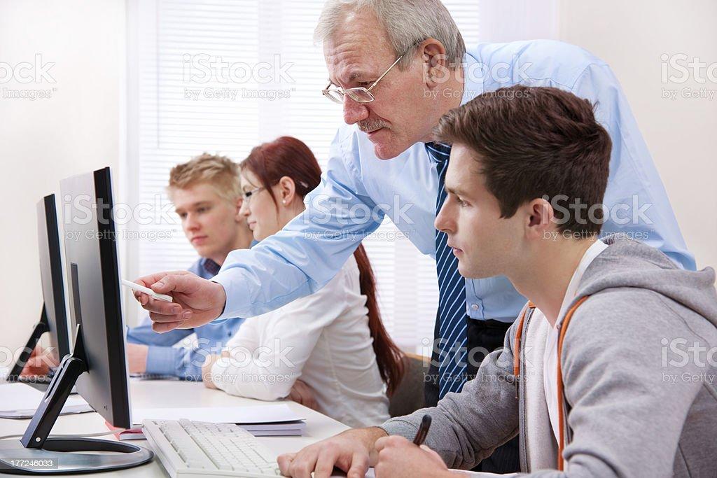 Computer training royalty-free stock photo