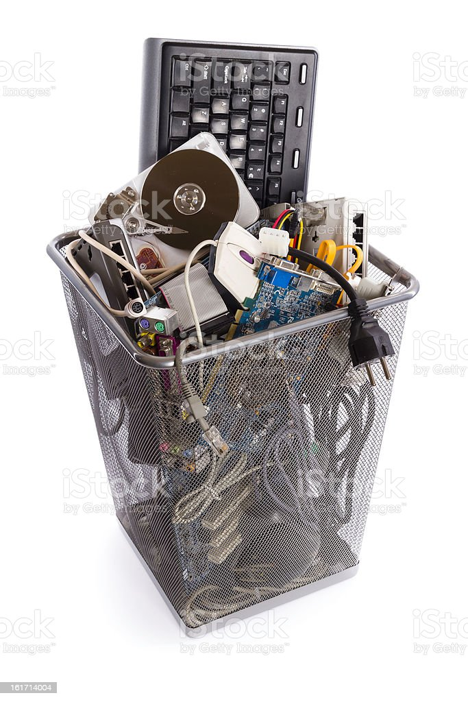 computer trash bin royalty-free stock photo