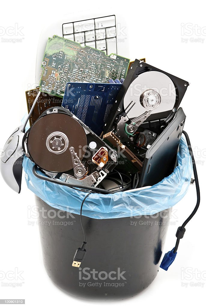 Computer trash royalty-free stock photo