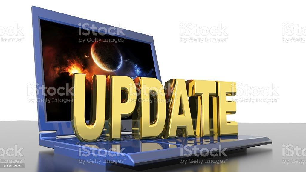 Computer update stock photo