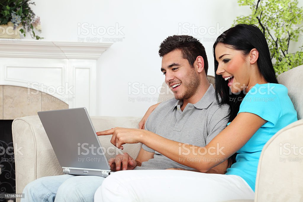 Computer Use In The Home royalty-free stock photo