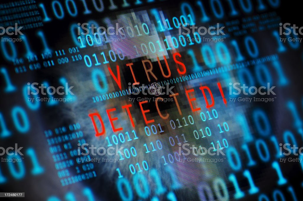 Computer virus detected stock photo