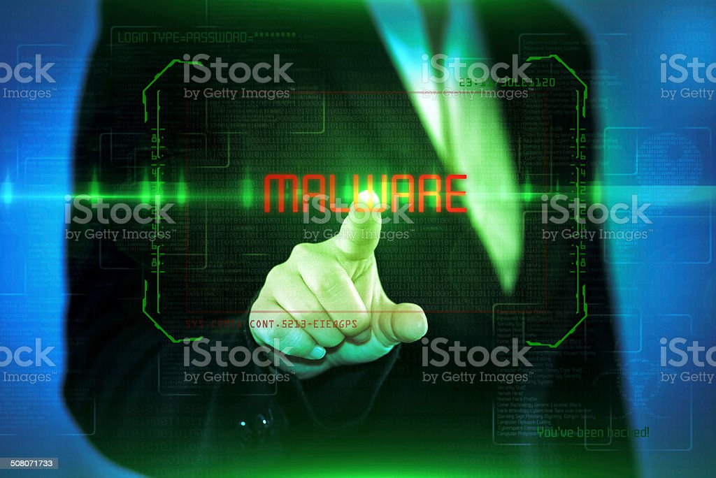 Computer Virus MALWARE stock photo