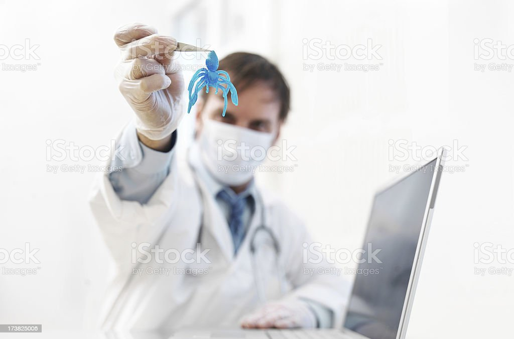 Computer virus royalty-free stock photo
