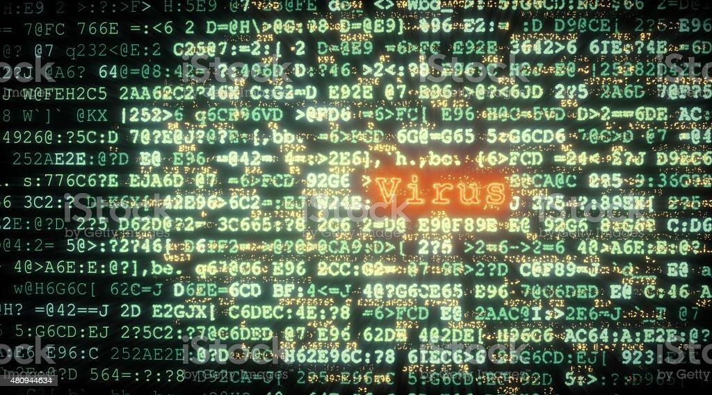 Computer Virus Threat Concept A02 stock photo