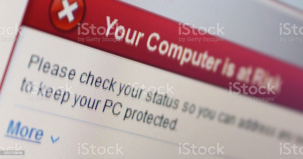 Computer Virus Threat stock photo