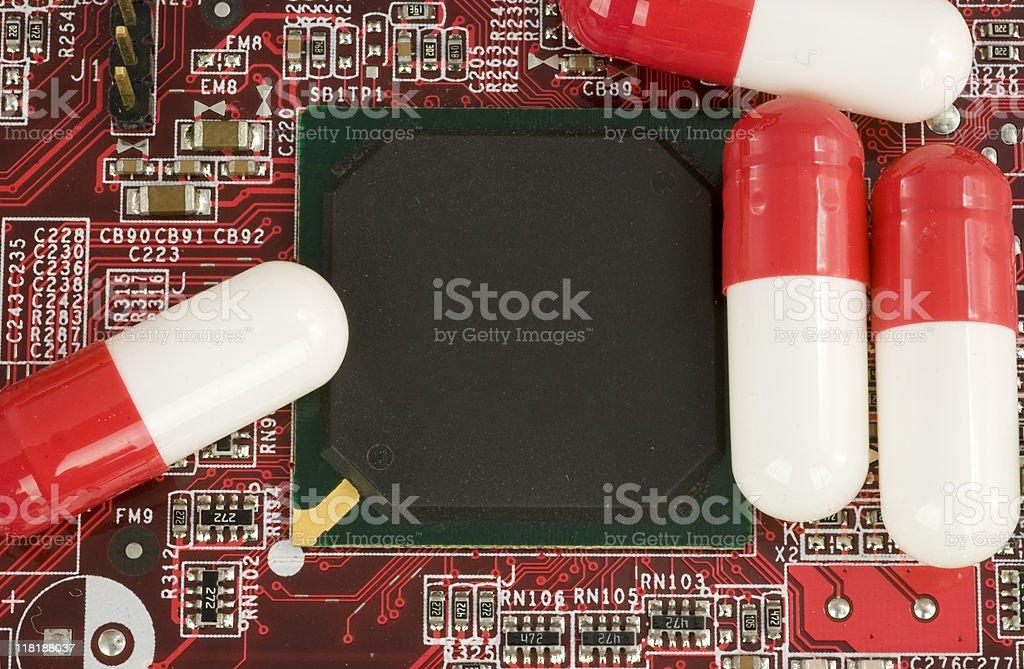 Computer vitamin stock photo