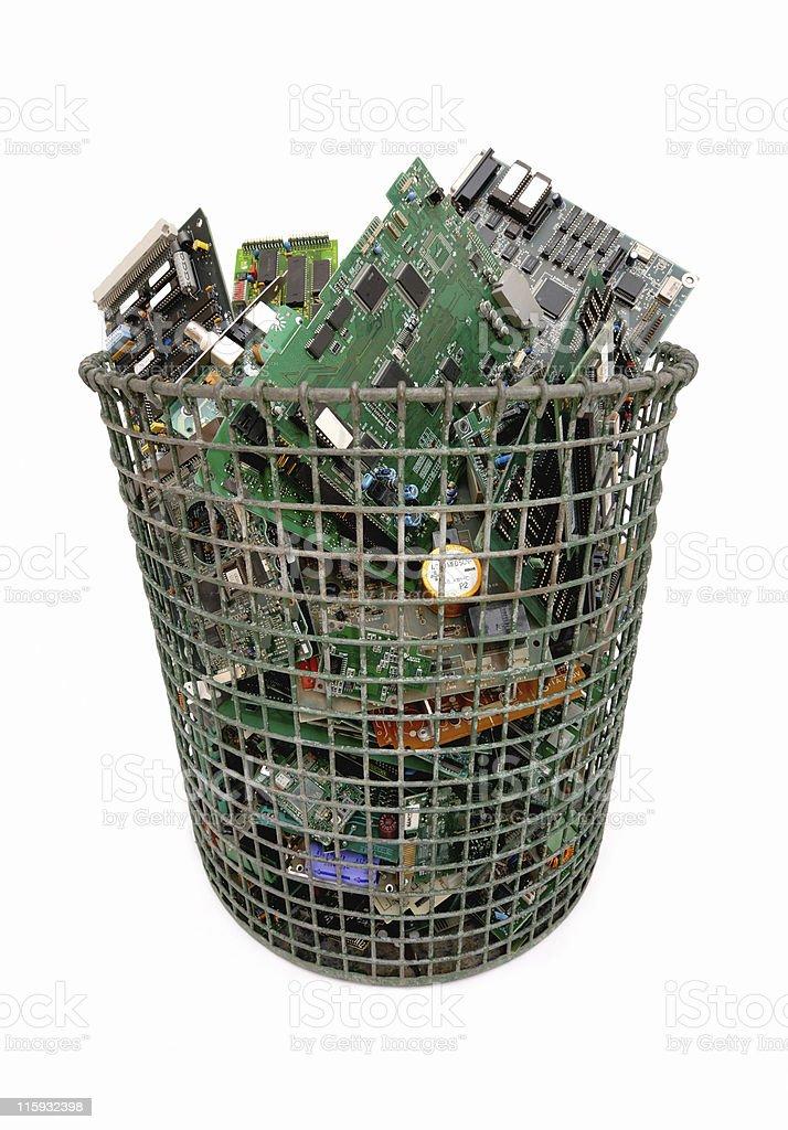 Computer waste basket royalty-free stock photo