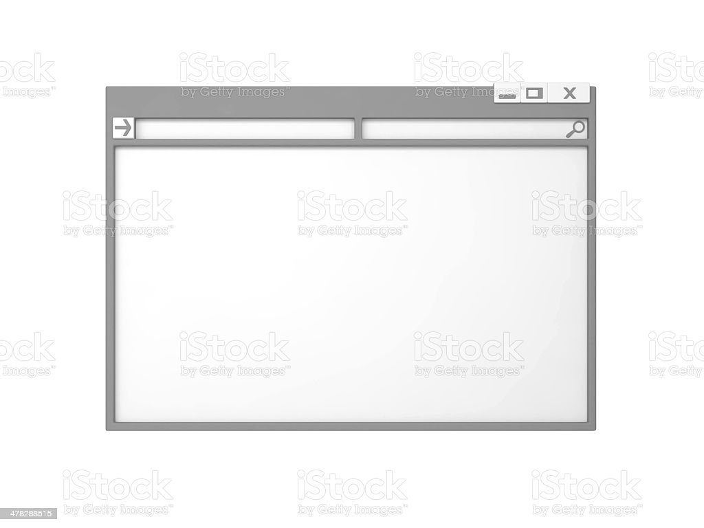 Computer window. stock photo