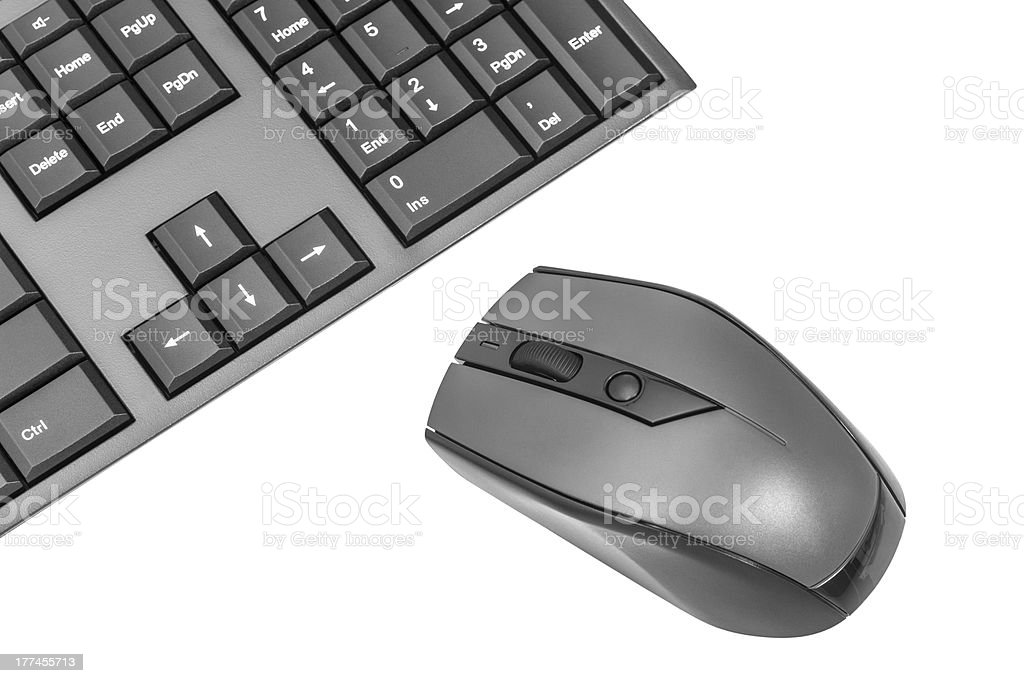 Computer Wireless Keyboard And Mouse royalty-free stock photo