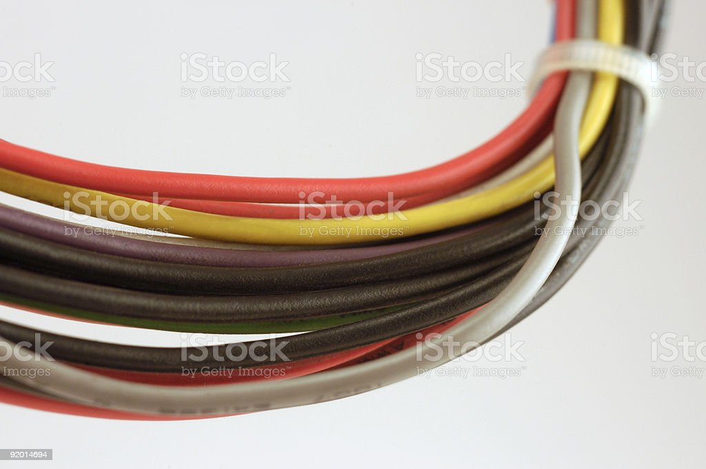 Computer Wires royalty-free stock photo