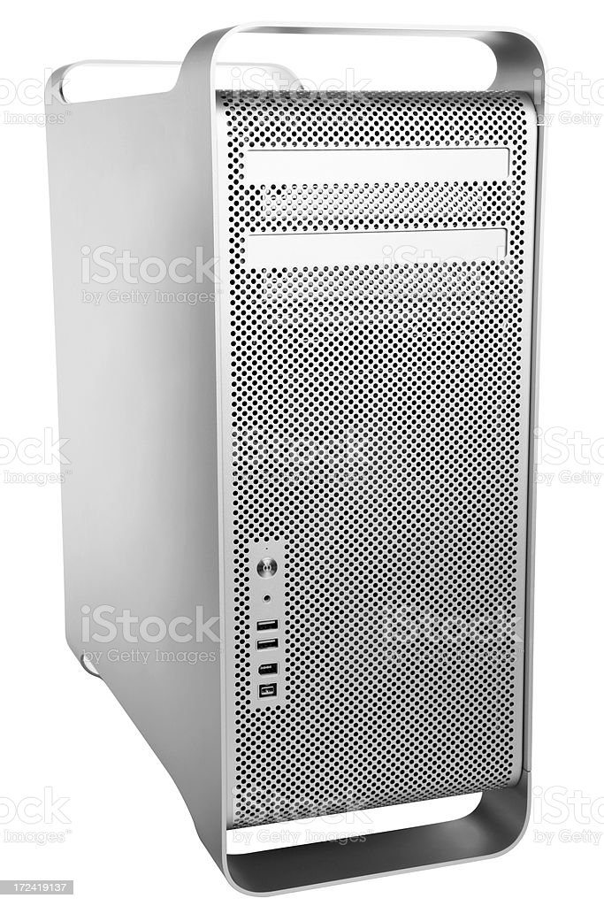 Computer with clipping path royalty-free stock photo