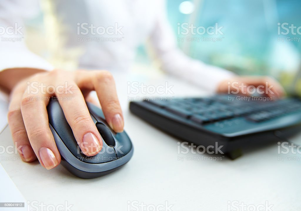 Computer work stock photo