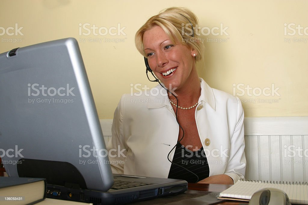 Computer Work ------  Women on the Computer royalty-free stock photo