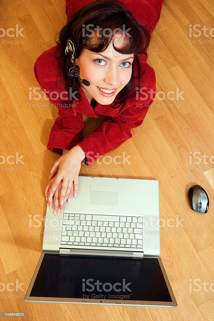 computer working royalty-free stock photo