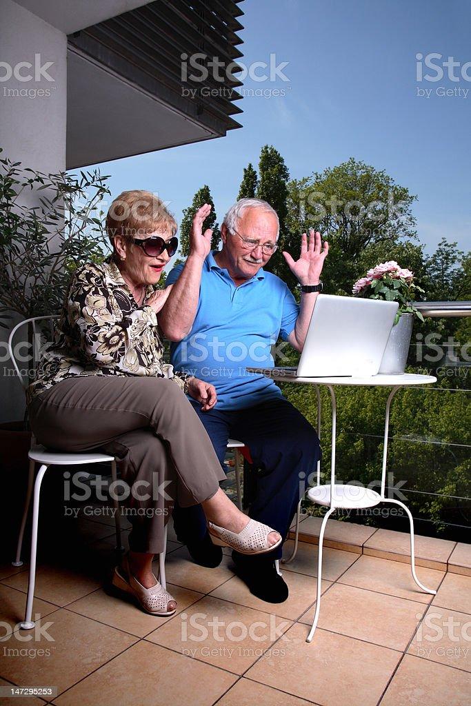 Computerized retirement royalty-free stock photo