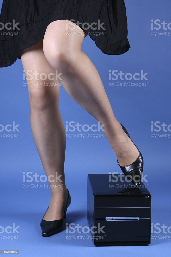 Computers and Legs stock photo