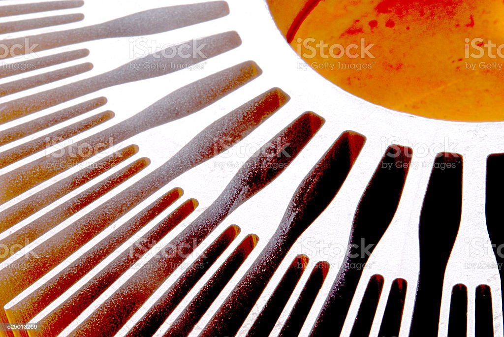 Computer's Heat Sink - Abstractly Grungy stock photo