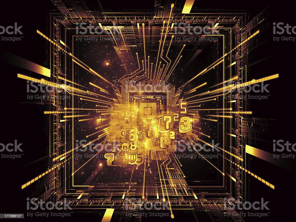 Computing Connections royalty-free stock photo