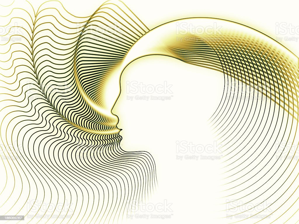 Computing Soul Geometry royalty-free stock photo