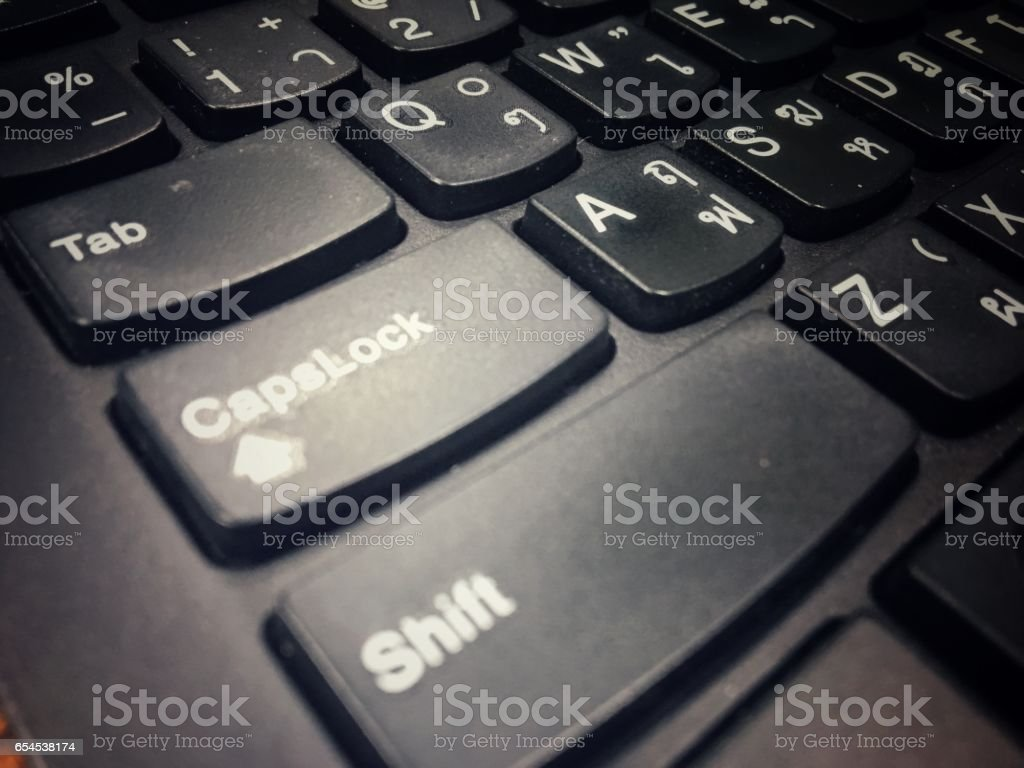 Computor notebook keyboard technology background stock photo