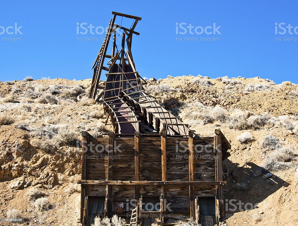 Comstock Ore Shute stock photo