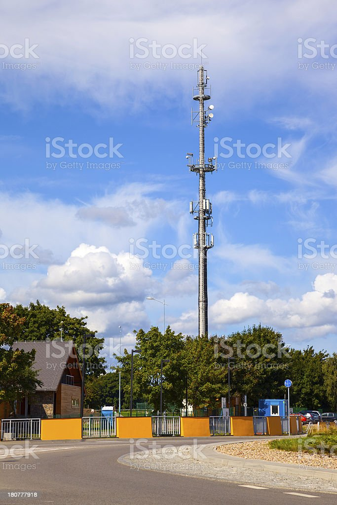 Antenna comunication royalty-free stock photo