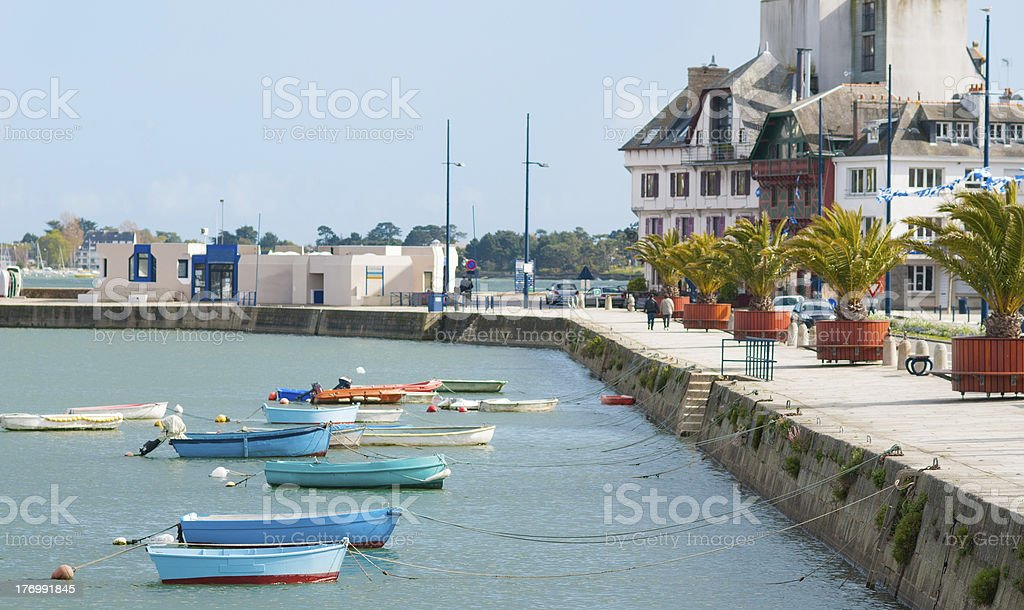 concarneau in brittany stock photo