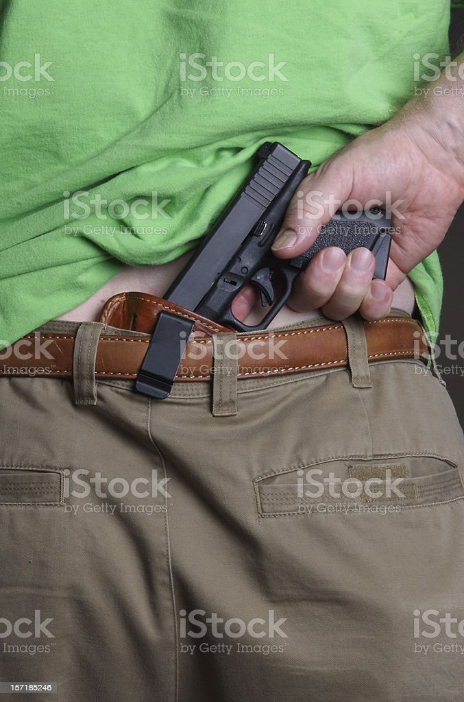 Concealed Carry Handgun royalty-free stock photo