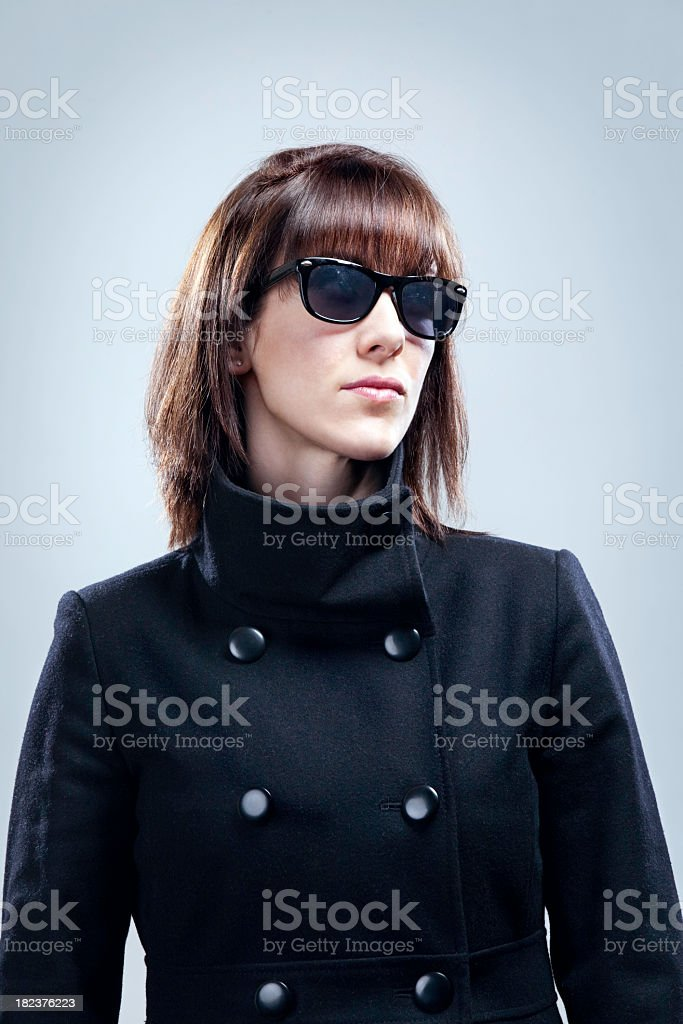 Concealed Identity Woman stock photo