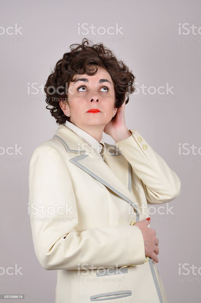 Conceited woman stock photo