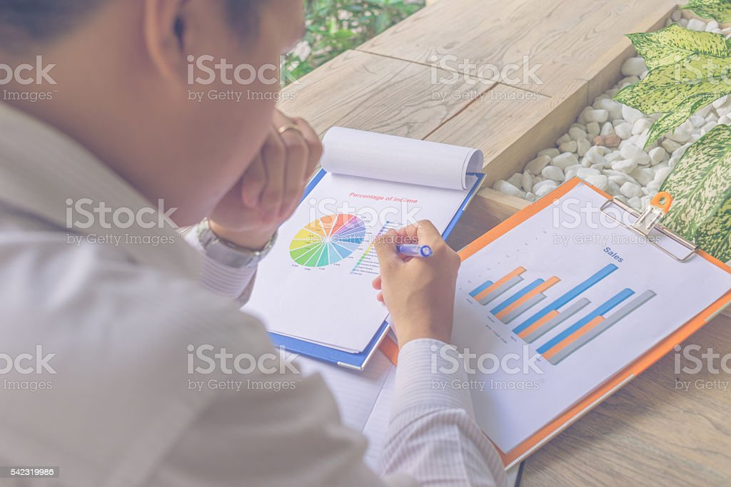 Concentrate on doing what he likes and don't care anything stock photo