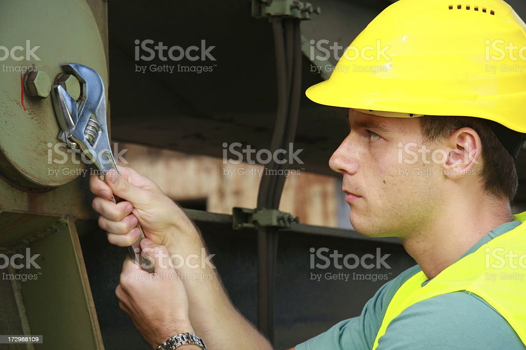 concentrated at work royalty-free stock photo