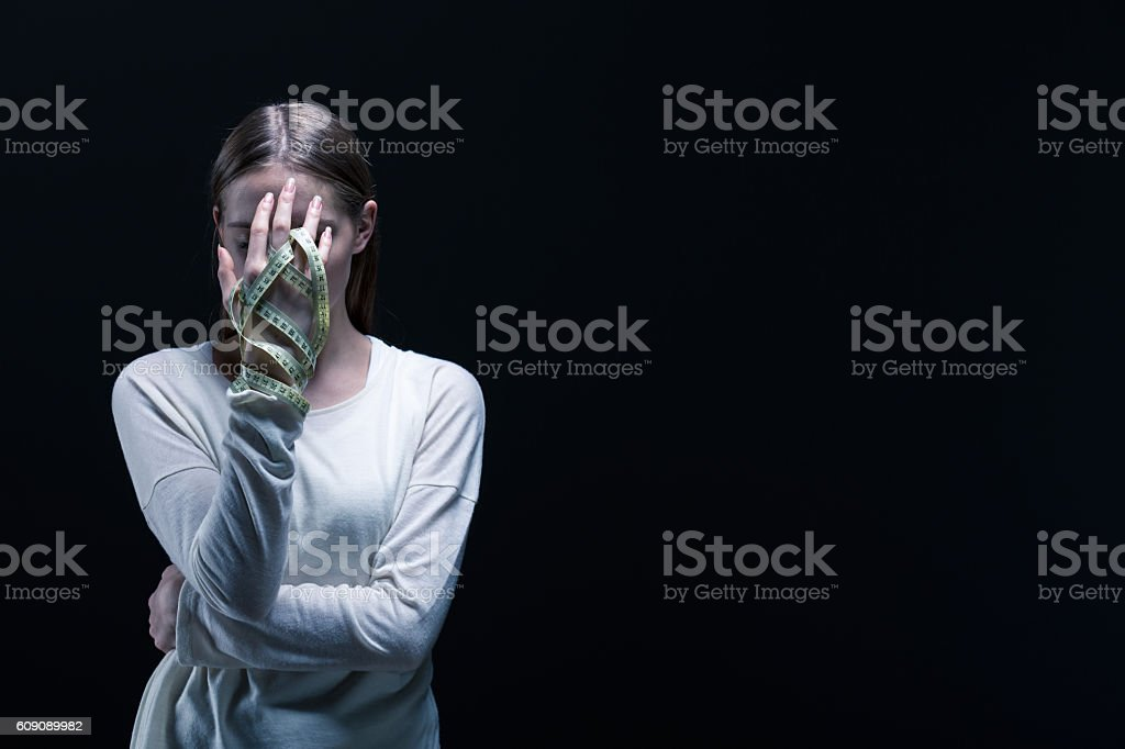 Concentrated on dreamy shape stock photo