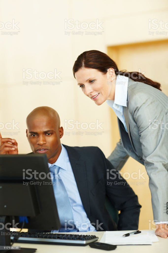 Concentrating at work royalty-free stock photo
