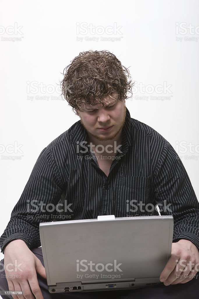 Concentrating on the Project royalty-free stock photo