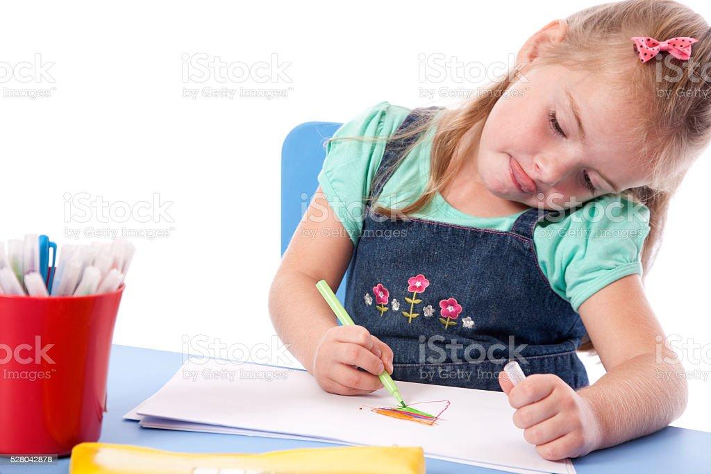 Concentrating Preschooler stock photo