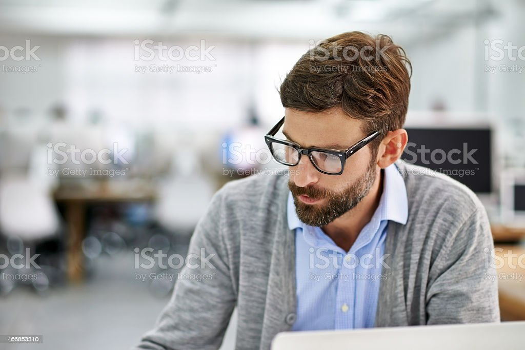 Concentration and dedication get the job done stock photo