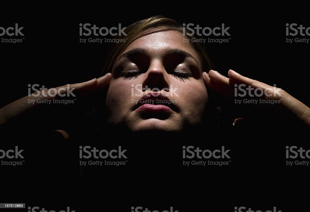 Concentration exercise stock photo