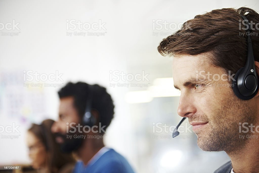 Concentration is key to doing a great job royalty-free stock photo