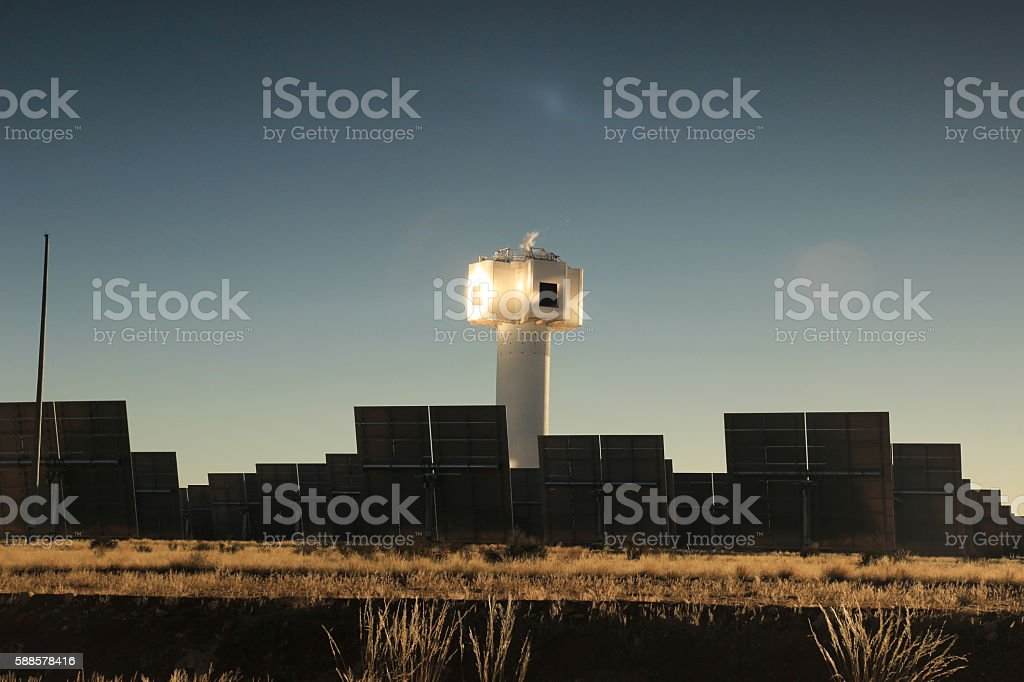 Concentration Solar plant stock photo