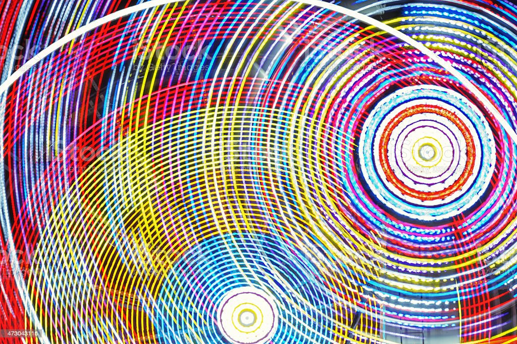 Concentric Circles of Colour stock photo