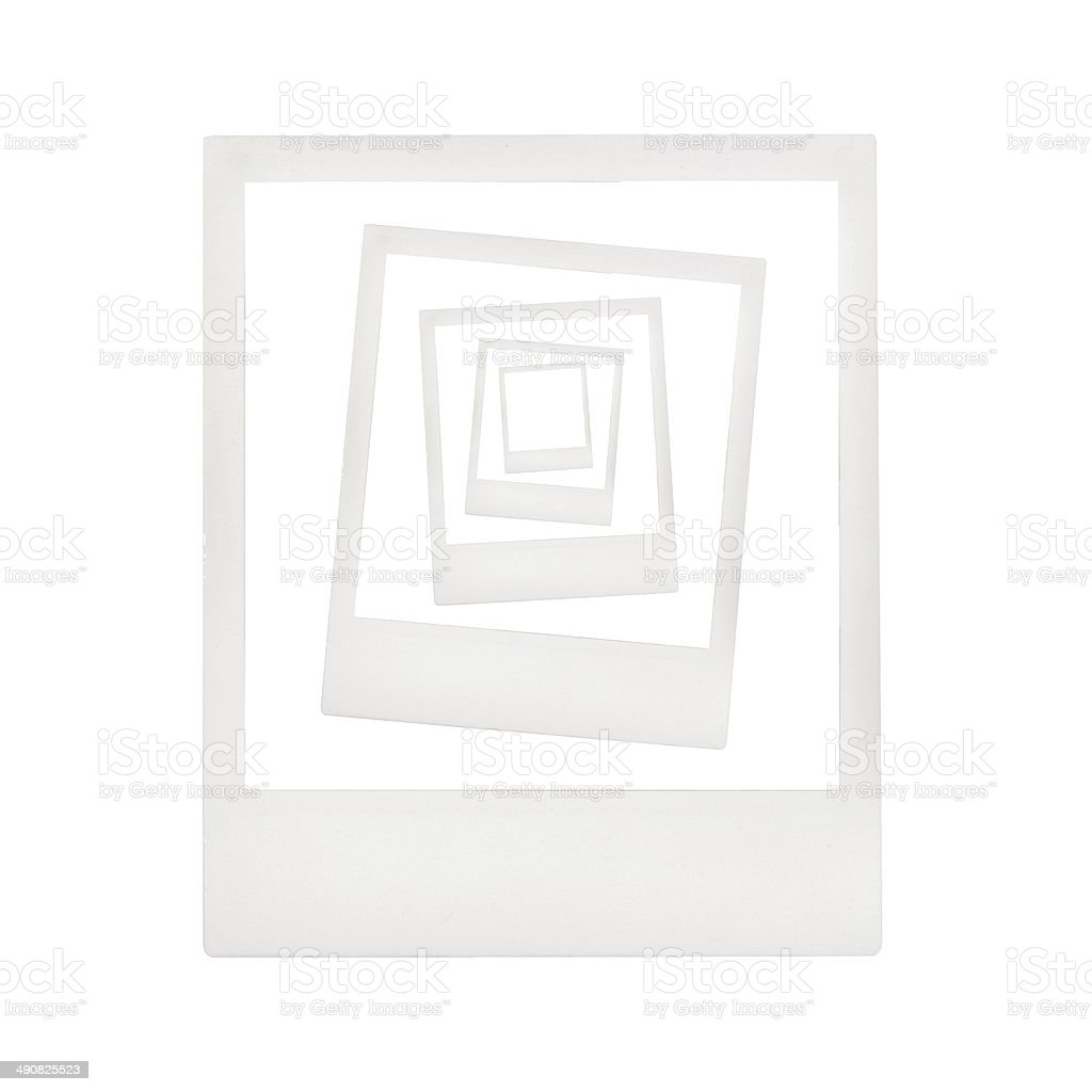 Concentric instant photo frames stock photo