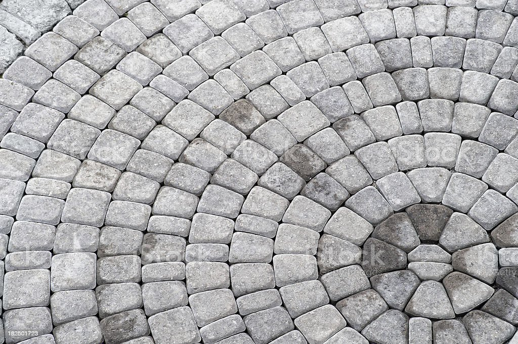 Concentric Paving Stones stock photo