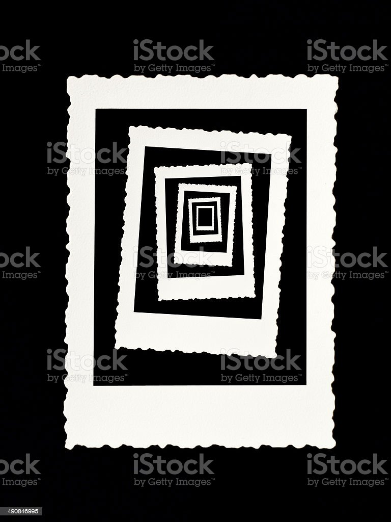 Concentric vintage photo frames stock photo