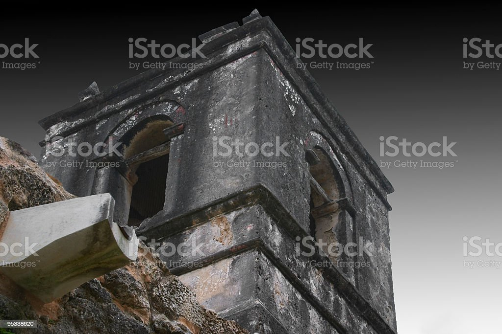 Concepcion Mission Tower stock photo