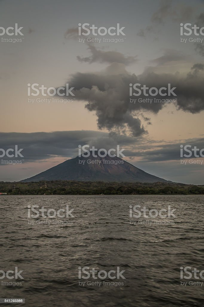 Concepcion Volcano View from Ometepe Island, Nicaragua stock photo