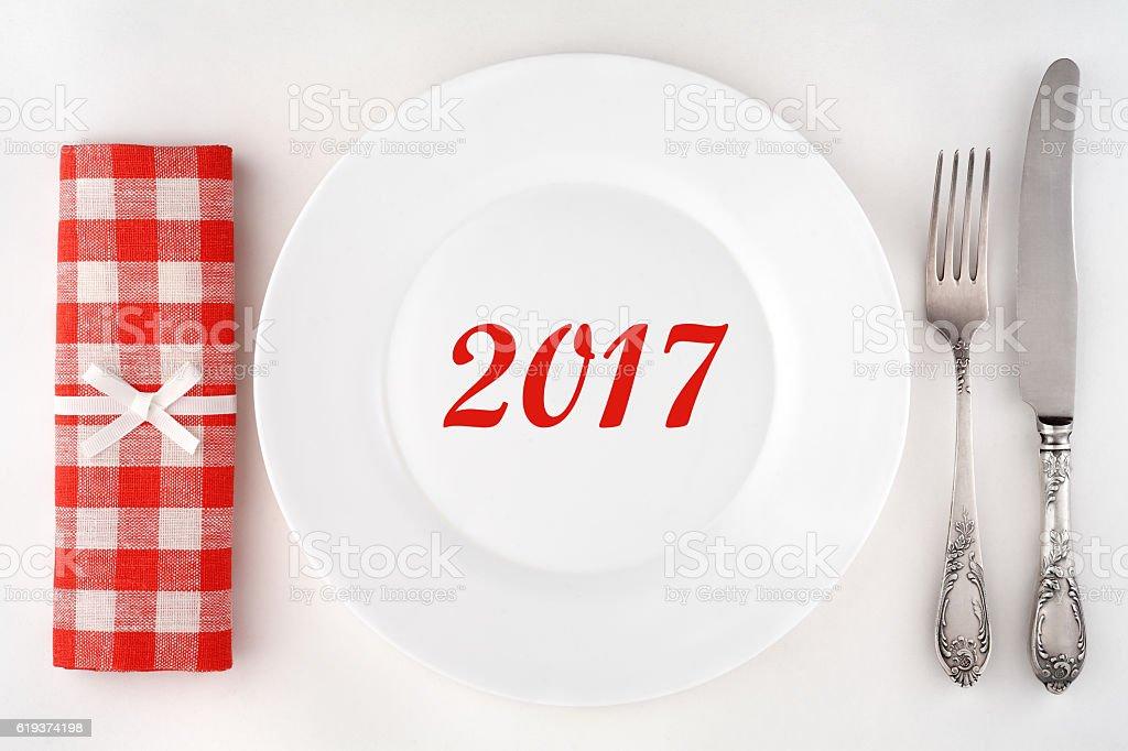 Concept 2017 stock photo