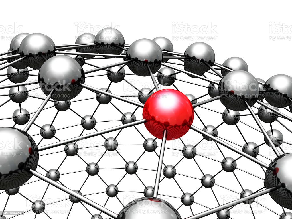 Concept 3d Red Leader Sphere In Group stock photo